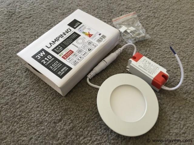 50 x 3 watt mat wit 3 in 1 (warm, neutraal en koud wit) slim LED panelen