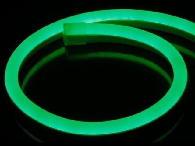 1x 100 meter neon flex LED - Groen