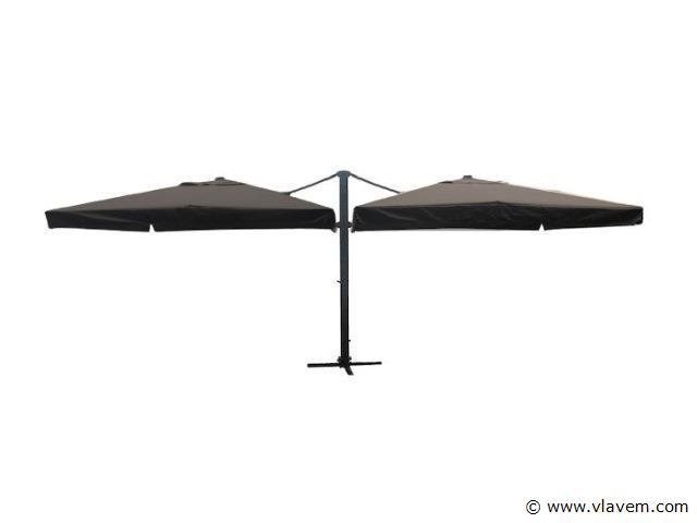 Dubbele hangende parasol 3x4