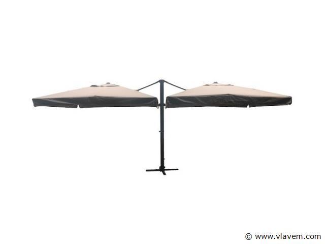 Dubbele hangende parasol 3x3