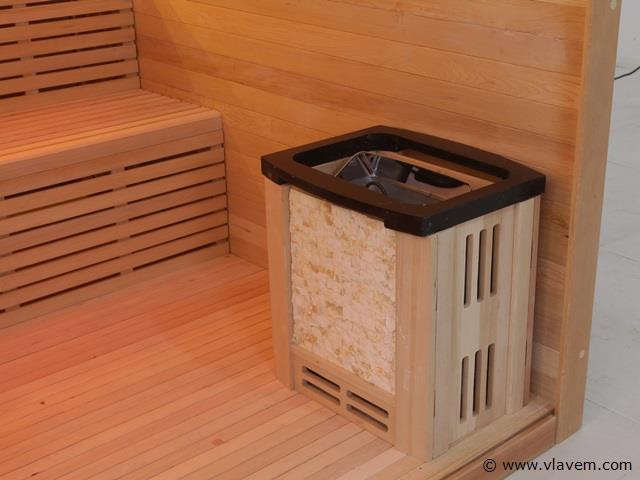 Sauna rechthoekig 220x220x210cm.