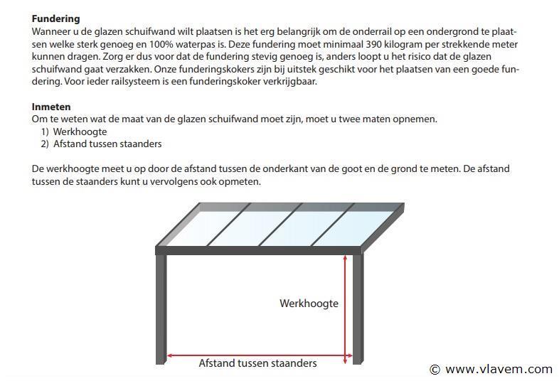 Glazen schuifdeursysteem 3 deurs, veiligheidsglas 10 mm, 2940mm breed, 2100mm hoog, crémewit RAL9001