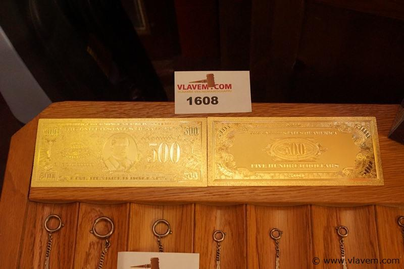 Gold plated 500 dollar bankbiljet