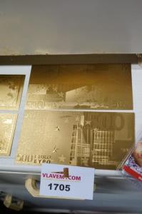 Vijfhonderd euro gold plated bankbiljetten