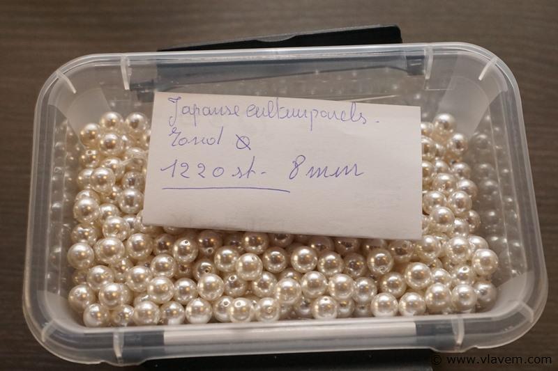Japanse cultuurparels diameter 8mm plm 1200 stuks in doosje