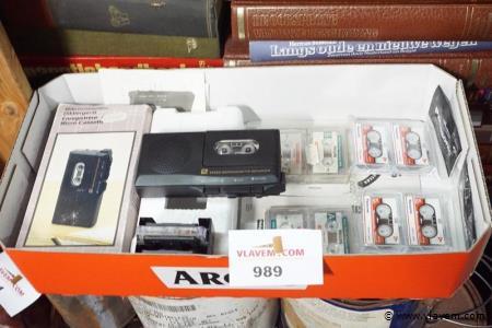 Mini bandopnemer met partij cassettes