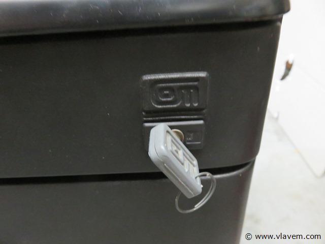 Metalen ladeblok 4 schuiven met sleutel