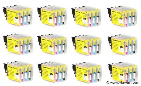 Printer Cartridge LC-9800/LC-985/LC-1100 Multipack 4 stuks voor Brother, 12x