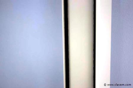 Glasopvangprofielset voor zijkanten, voor 3 deurssysteem, crémewit RAL9001