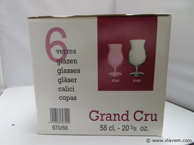 set van 6 glazen
