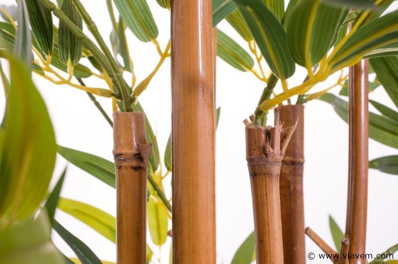 Kunstplant mix, 2x Ficus  & 2x Bamboe ca. 120 cm
