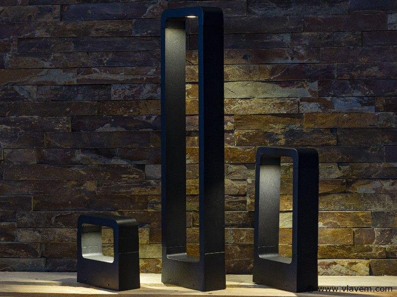 10 x 7W LED mat zwart tuin en wandlampen 14,5cm - warm wit