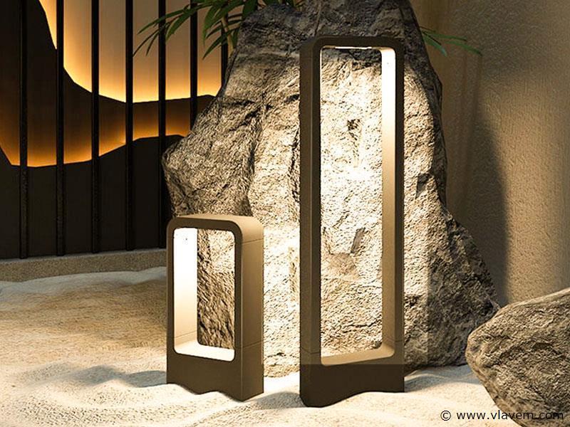 6 x 7W LED mat zwart tuinlampen 30cm - warm wit