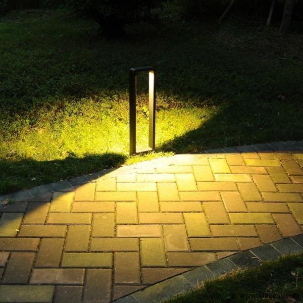6 x 7W LED mat zwart tuinlampen 60cm - warm wit