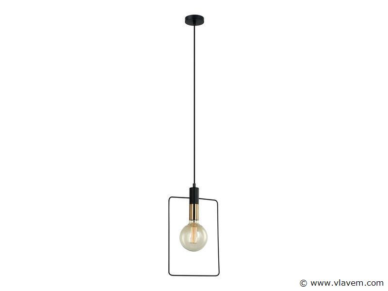 10 x Design hanglampen - QUADRAN - Mat zwart & Brons