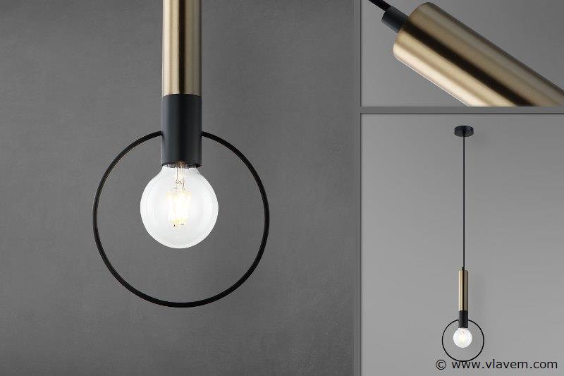 10 x Design hanglampen - RONA - Zwart & Brons