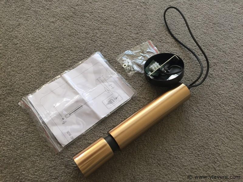 3 x Design hanglampen - COMO - Brons & zwart