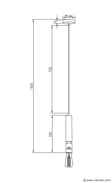 10 x Design hanglampen - COMO - Brons & zwart