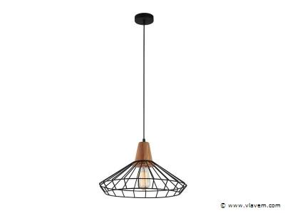 6 x Design hanglampen - WIRON - Zwart