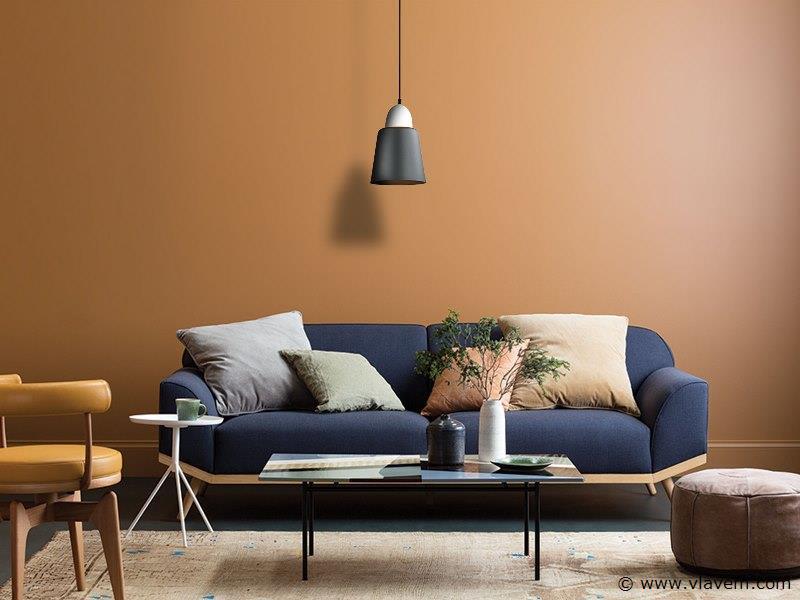 3 x Design hanglampen - FRECA - Mat donkergrijs met wit ( glas )