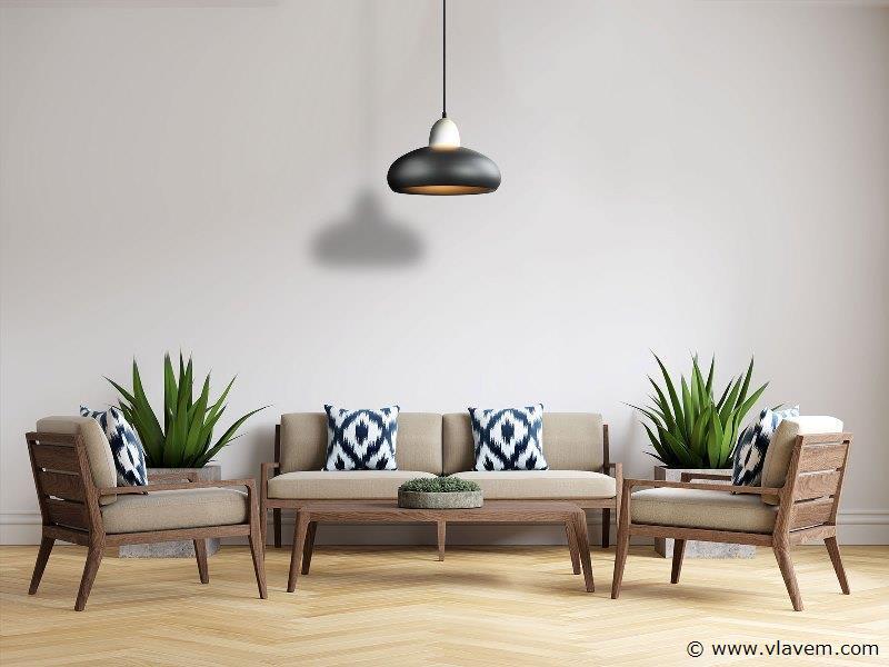 3 x Design hanglampen - FREDA - Mat donkergrijs met wit ( glas )