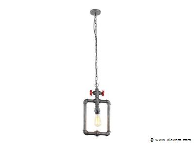 1 x Design hanglampen - WAPI -  Grijs met zwart en rood
