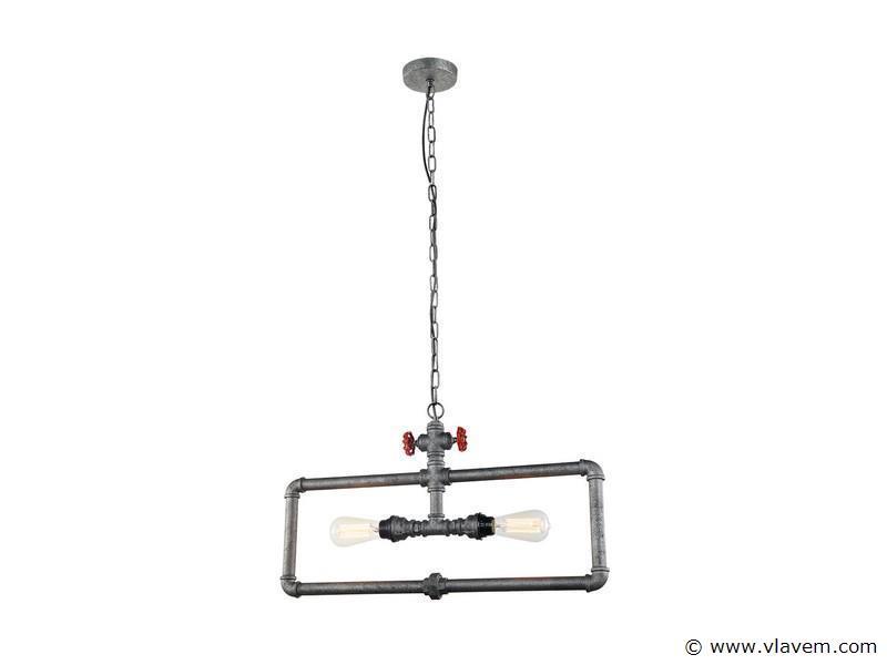 1 x Design hanglampen - WAPIDU -  Grijs met zwart en rood