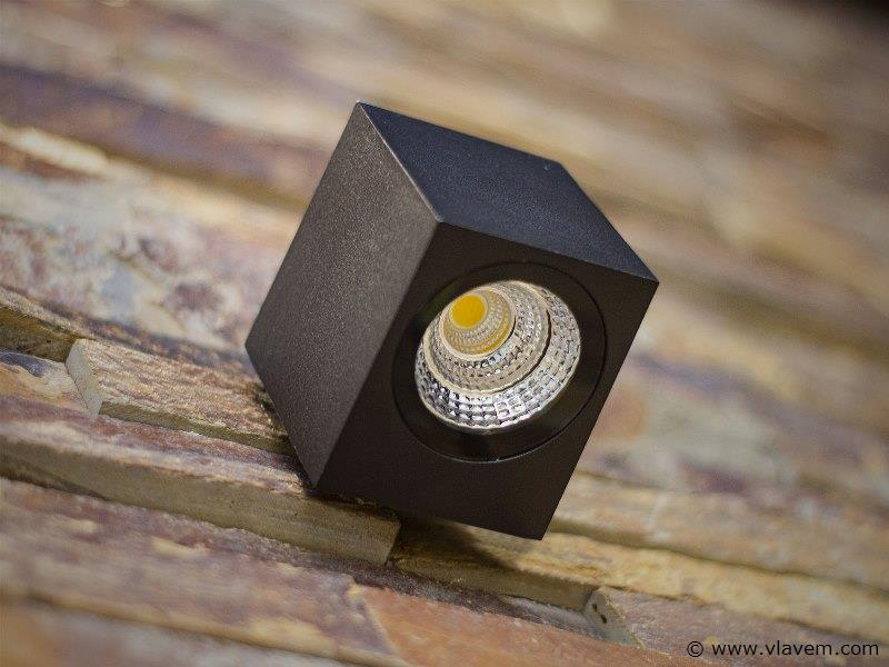 20 x 5W LED mat zwart tuin en wandlampen rechthoekig - warm wit
