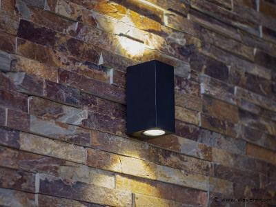 20 x 10W LED mat zwart tuin en wandlampen rechthoekige duo licht - warm wit