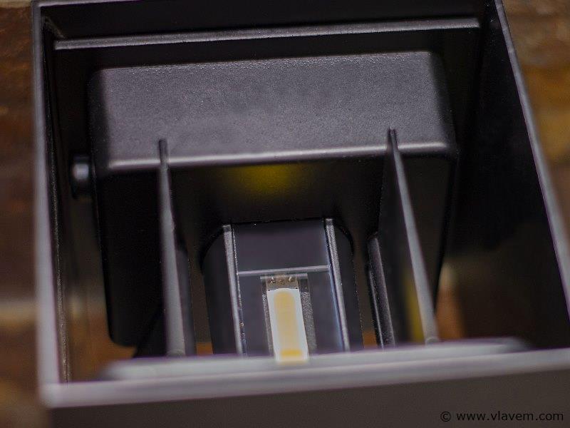 10 x 10W LED mat zwart tuin en wandlampen kubus duo licht - verstelbare hoek van de lichtbundel