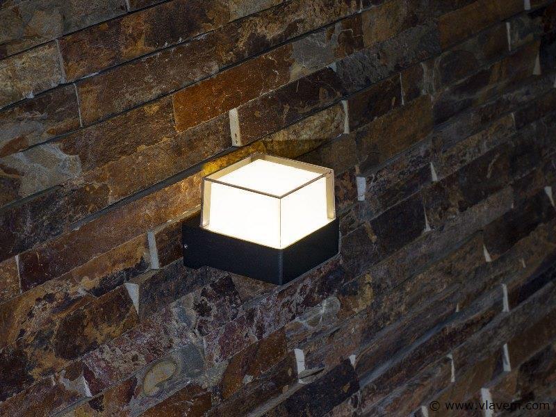 10 x 6W LED mat zwart tuin en wandlampen - warm wit