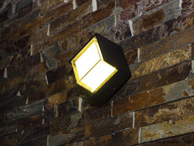 10 x 10W LED mat zwart tuin en wandlampen - warm wit