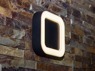 4 x 12W LED zwart tuin en wandlampen vierkant - warm wit