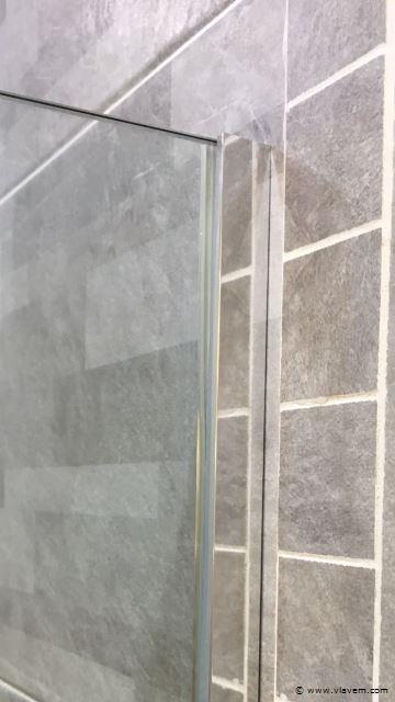 1 st. Inloopdouche met chroom profiel - 90 x 200 - Glasdikte 8mm