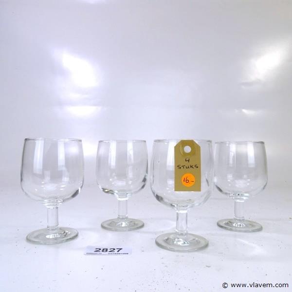 4 kristallen glazen