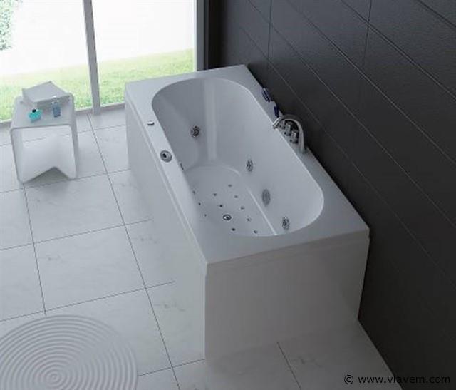 1 à 2 Persoons whirlpool massagebad Wit - Half vrijstaand 190x90cm