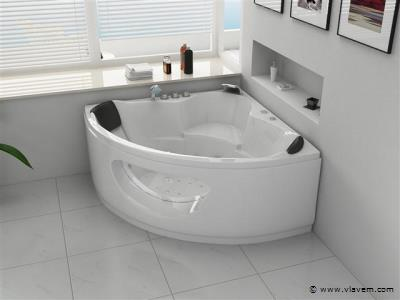 2 Persoons Whirlpool massagebad Wit - Hoekbad 138x138cm