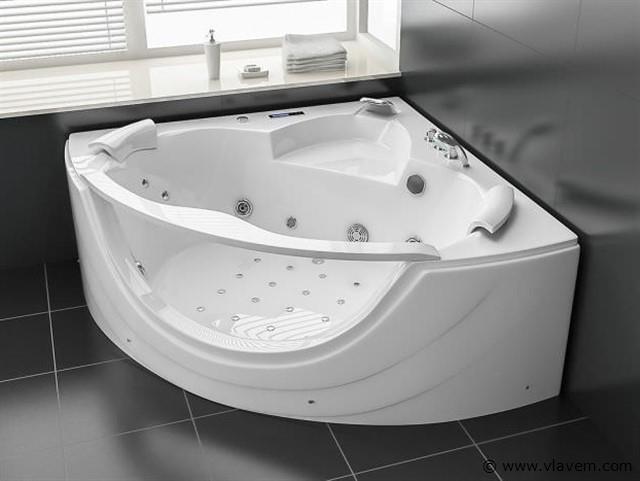 2 Persoons whirlpool massagebad Wit - Hoekbad 150x150cm