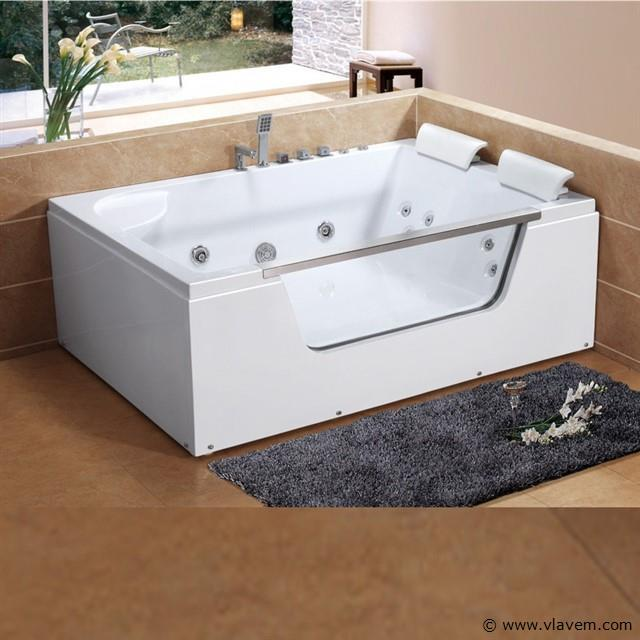 2 Persoons whirlpool massagebad Wit - Rechtse opstelling 175x120cm