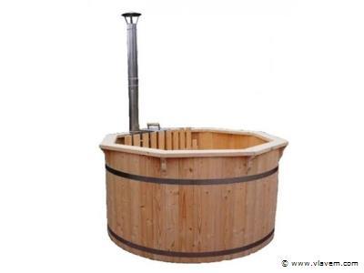 Hot Tub - Sparren hout - Inclusief kunstof cover interne kachel 190cm