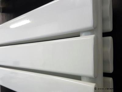 1st Dubbele design badkamerradiator MAT WIT H1200 x B600 FARKO