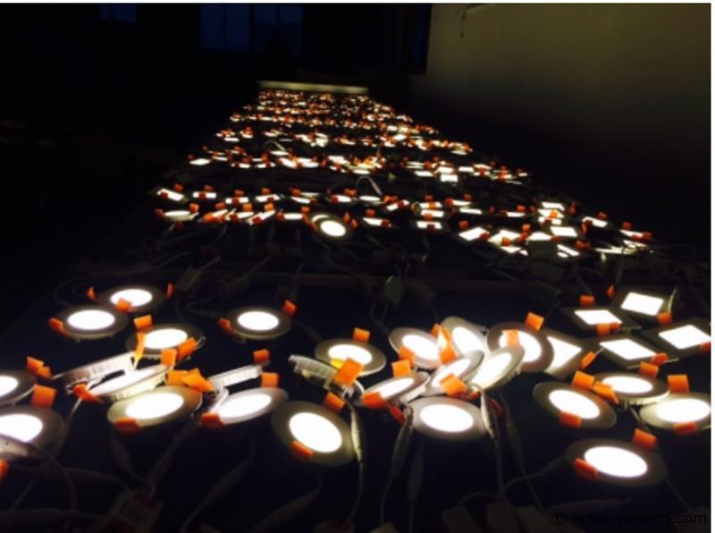 50 x 5W slim warm wit rond inbouw LED panelen