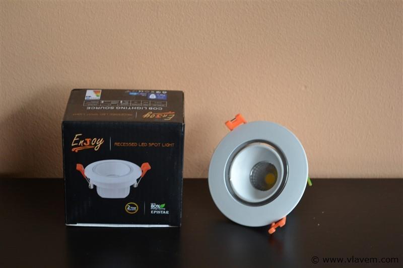 50 x 7W inbouw warm wit LED rond spotlampen