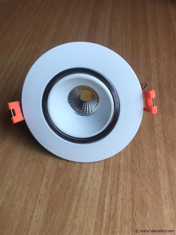 100 x 7W inbouw warm wit LED rond spotlampen
