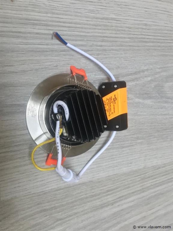 50 x 7W inbouw LED rond grijs spotlampen