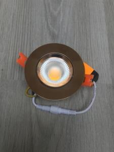 20 x 7W inbouw LED rond gouden spotlampen