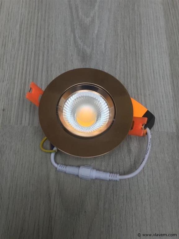 50 x 7W inbouw LED rond gouden spotlampen