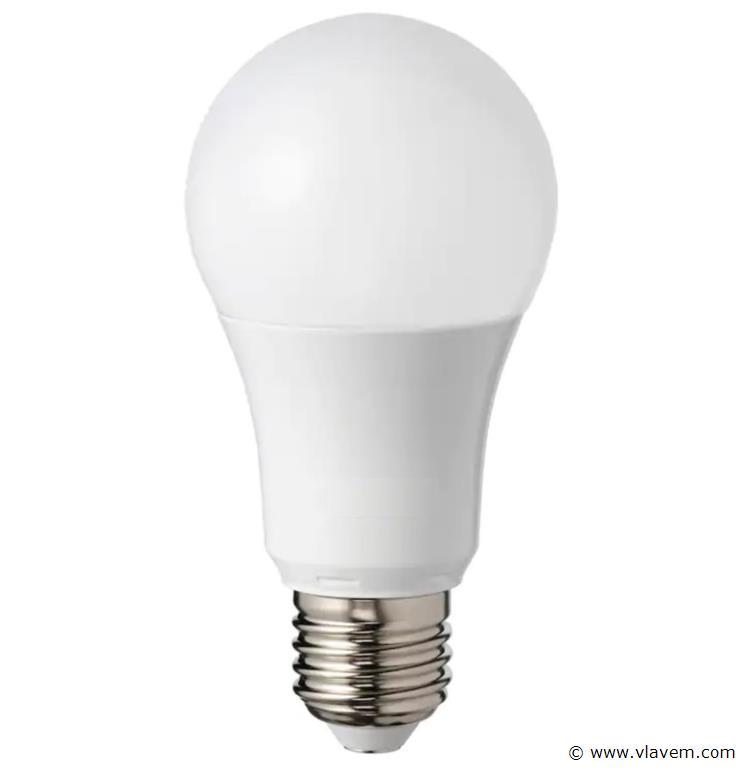 50 x E27 9W LED-lamp peervormig, mat - koudwit