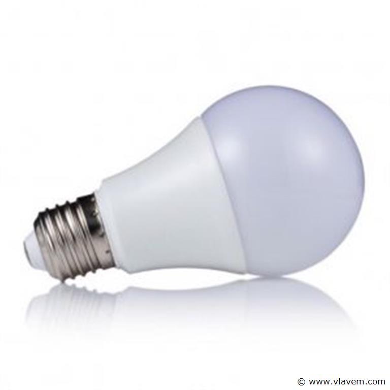 100 x E27 9W LED-lamp peervormig, mat - koudwit