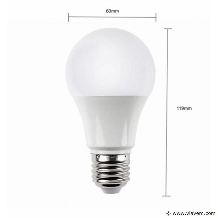 50 x E27 12W LED-lamp peervormig, mat - koudwit